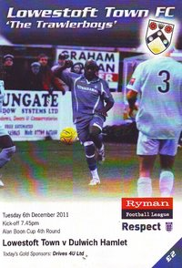 Lowestoft Town v Dulwich Hamlet - Alan Boon Cup - 06.12.11