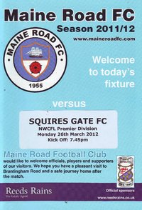 Maine Road v Squires Gate - League - 26.03.12