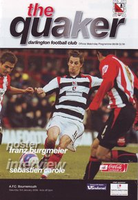 Darlington v AFC Bournemouth - League - 03.01.09