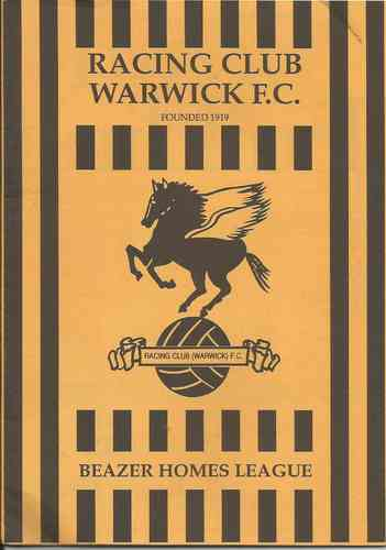 Racing Club Warwick v Grantham Town - League - 25.08.92