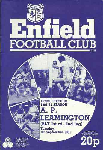 Enfield v A.P. Leamington - Bob Lord Trophy - 01.09.81