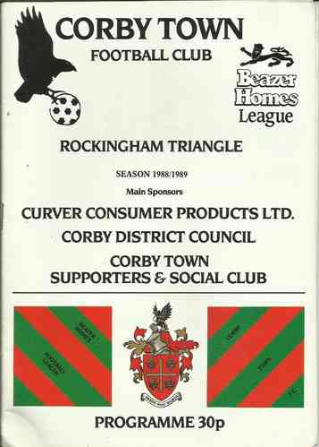 Corby Town v Grantham - Westgate Insurance Cup - 19.10.88