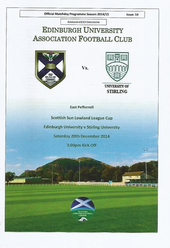 Edinburgh University v Stirling University - League Cup - 20.12.14