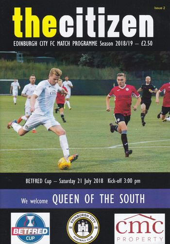 Edinburgh City v Queen of the South - Betfred Cup - 21.07.18