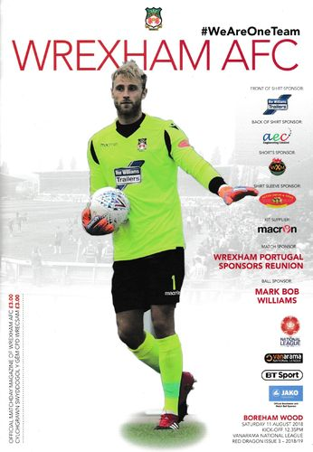 Wrexham v Boreham Wood - League - 11.08.18