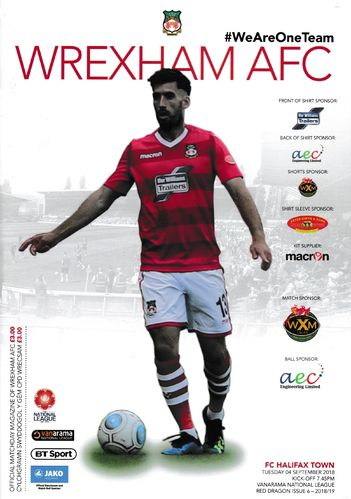 Wrexham v FC Halifax Town - League - 04.09.18