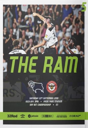 Derby County v Brentford - League - 22.09.18