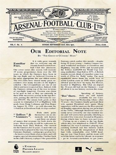 Arsenal v Everton - League - 23.09.18