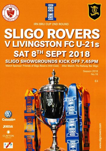 Sligo Rovers v Livingston U21s - Irn Bru Cup - 08.09.18