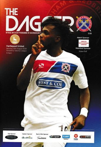 Dagenham & Redbridge v Hartlepool United - League - 25.08.18
