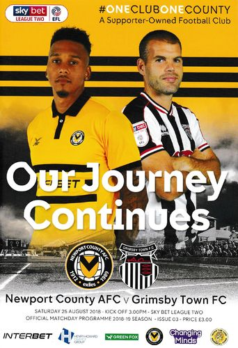 Newport County v Grimsby Town - League - 25.08.18