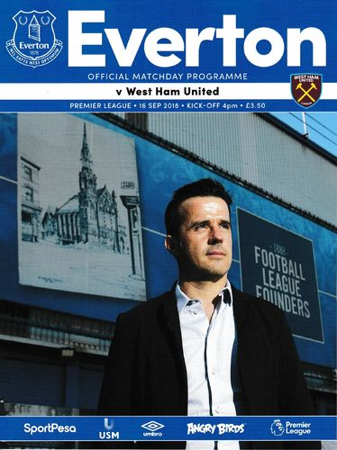 Everton v West Ham United - League - 16.09.18
