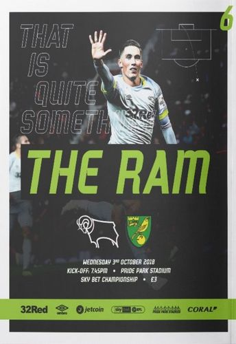 Derby County v Norwich City - League - 03.10.18