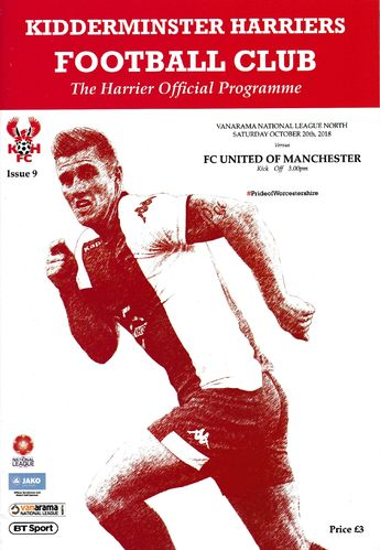Kidderminster Harriers v FC United of Manchester - League - 20.10.18