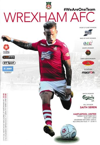 Wrexham v Hartlepool United - League - 30.10.18