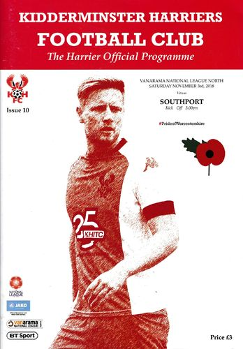 Kidderminster Harriers v Southport - League - 03.11.18