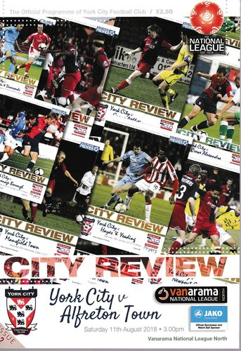 York City v Alfreton Town - League - 11.08.18