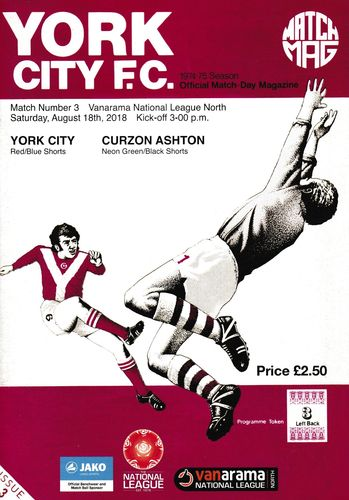 York City v Curzon Ashton - League - 18.08.18