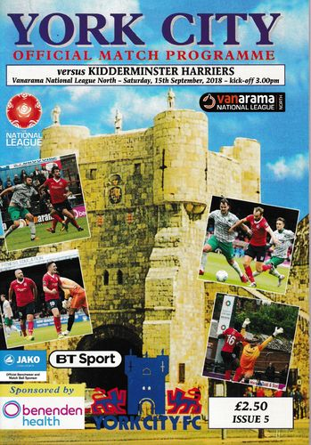 York City v Kidderminster Harriers - League - 15.09.18