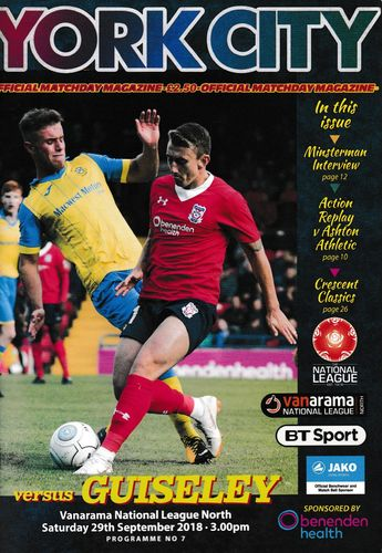 York City v Guiseley - League - 29.09.18