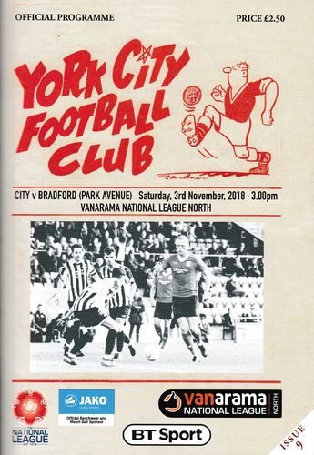 York City v Bradford Park Avenue - League - 03.11.18
