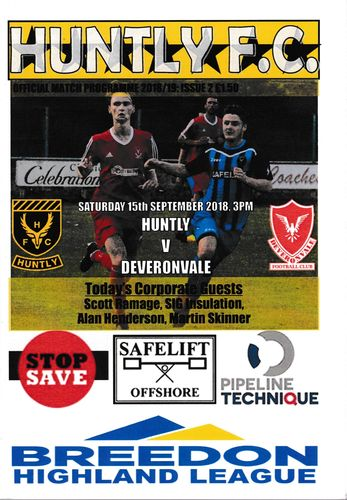 Huntly v Deveronvale - League - 15.09.18