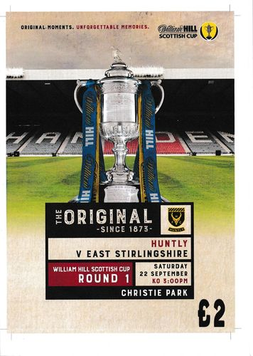 Huntly v East Stirlingshire - Scottish Cup - 22.09.18