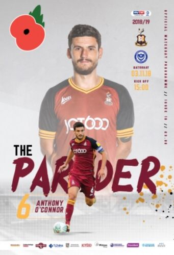 Bradford City v Portsmouth - League - 03.11.18