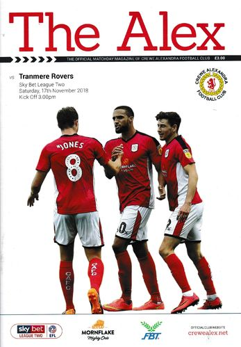 Crewe Alexandra v Tranmere Rovers - League - 17.09.18