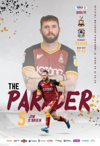 Bradford City v Coventry City - League - 23.10.18