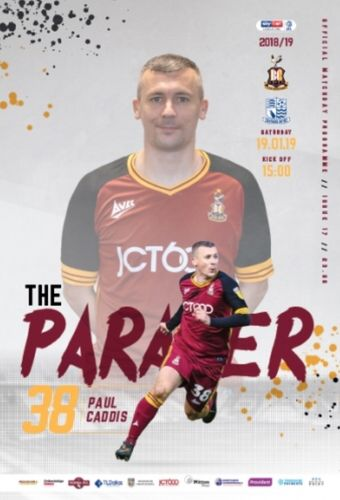 Bradford City v Southend United - League - 19.01.19