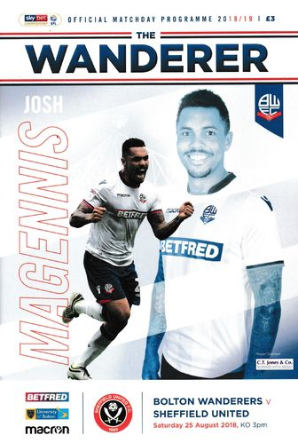 Bolton Wanderers v Sheffield United - League - 25.08.18