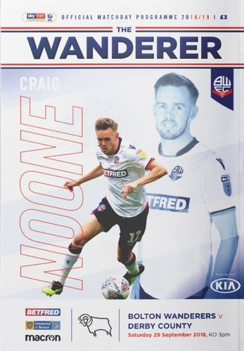 Bolton Wanderers v Derby County - League - 29.09.18