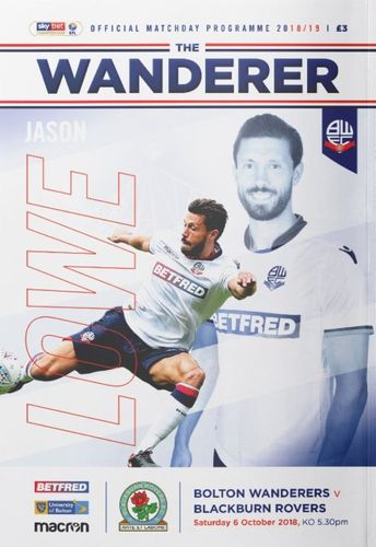 Bolton Wanderers v Blackburn Rovers - League - 06.10.18