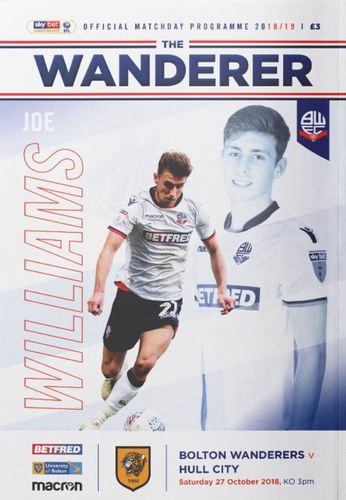 Bolton Wanderers v Hull City - League - 27.10.18