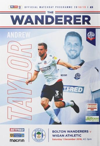 Bolton Wanderers v Wigan Athletic - League - 01.12.18