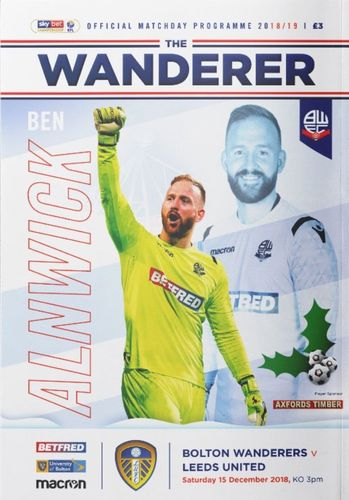 Bolton Wanderers v Leeds United - League - 15.12.18