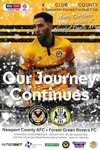 Newport County v Forest Green Rovers - League - 26.12.18