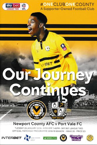 Newport County v Port Vale - League - 29.01.19