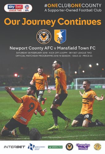 Newport County v Mansfield Town - League - 09.02.19