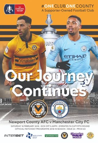 Newport County v Manchester City - FA Cup - 16.02.19