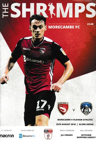 Morecambe v Oldham Athletic - League - 25.08.18