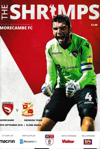 Morecambe v Swindon Town - League - 08.09.18