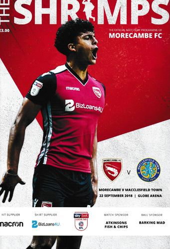 Morecambe v Macclesfield Town - League - 22.09.18
