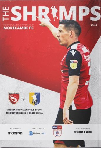 Morecambe v Mansfield Town - League - 23.10.18