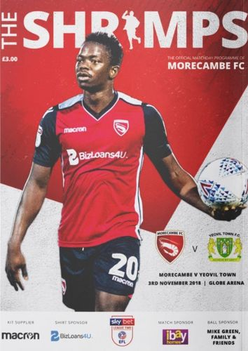 Morecambe v Yeovil Town - League - 03.11.18