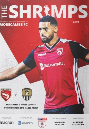 Morecambe v Notts County - League - 24.11.18