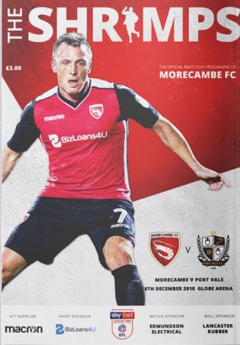 Morecambe v Port Vale - League - 08.12.18