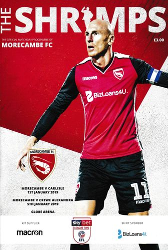 Morecambe v Carlisle United / Crewe Alexandra - League - 01.01.19 / 05.01.19