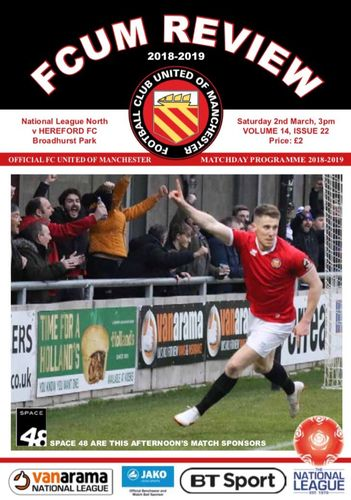 FC United of Manchester v Hereford - League - 02.03.19